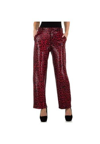 JCL pantalon pour femme rouge KL-83362B
