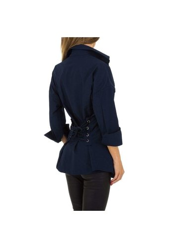 JCL Dames lange blouse van JCL - DK. Blauw