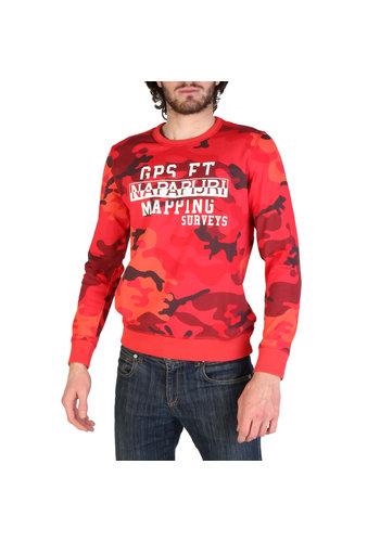 Napapijri Sweater - rood camo -   BALKA_N0YIL3