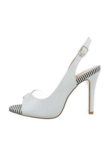 Neckermann Chaussure ouverte femme avec talon - blanc