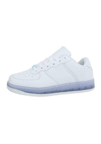 Neckermann Low Sneakers für Frauen, weiß blau