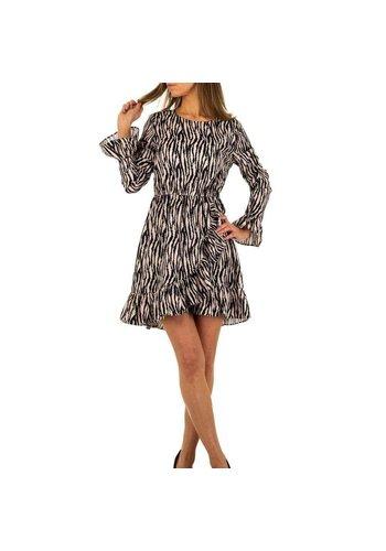 Neckermann Damen Kleid von Emmash Paris - zebrabeige