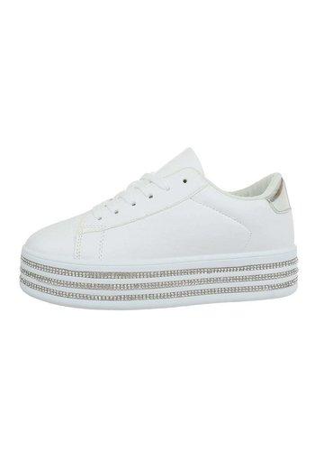 Neckermann Damen Low-Sneakers - Weißes Silber