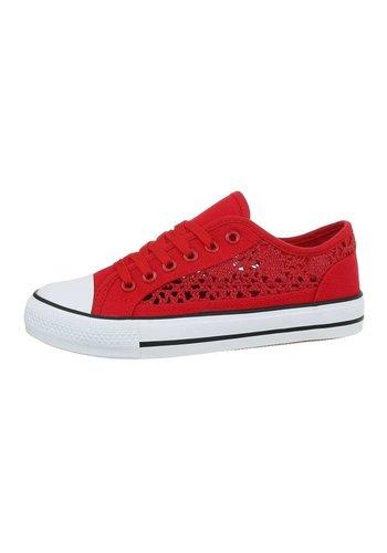 Neckermann Damen Low Sneaker -Rot