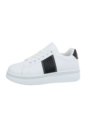 Neckermann Damen Low-Sneakers - whitebkack