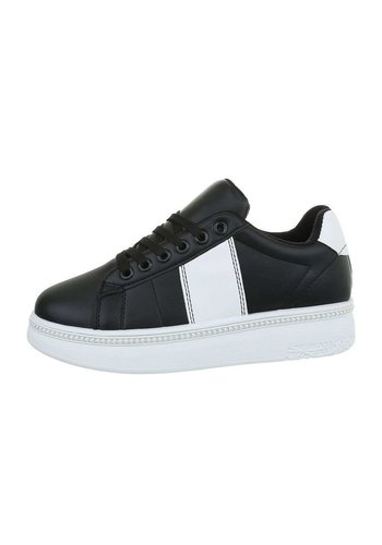 Neckermann Dames lage sneakers - zwartwit