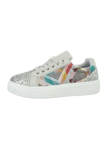 Neckermann Dames lage sneakers - grijs