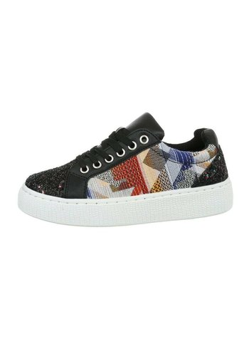Neckermann Dames lage sneakers - zwart