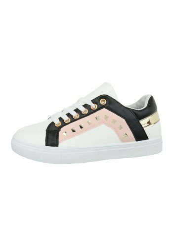 Neckermann Dames lage sneakers - roze