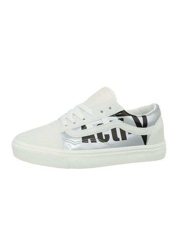 Neckermann Damen Low-Sneakers - whitesilver
