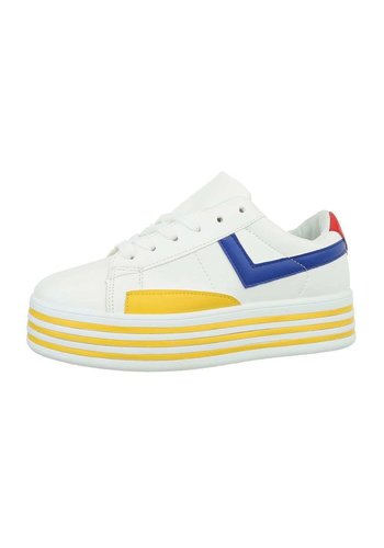 Neckermann Damen Low-Sneakers - whiteyellow