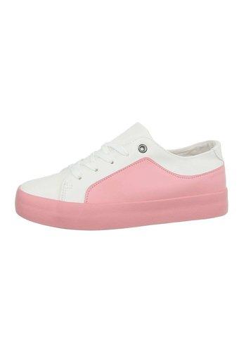 Neckermann Damen Low-Sneakers - whitepink