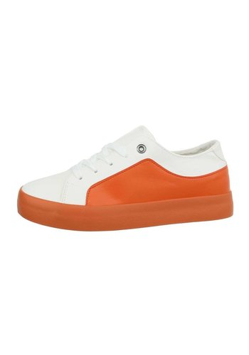 Neckermann Femmes Baskets Basses - blanc orange