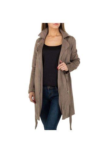 JCL Damen Mantel von JCL - taupe
