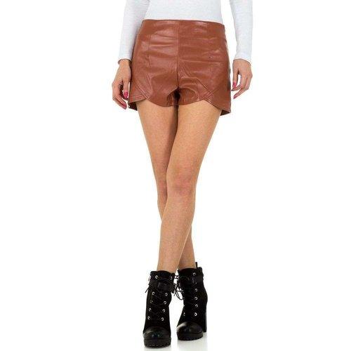 JCL Dames shorts van JCL - bruin