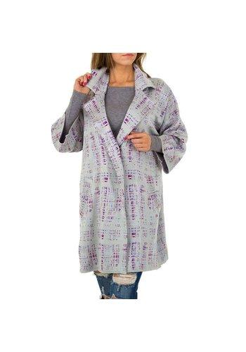 JCL Manteau pour femme par JCL - gris