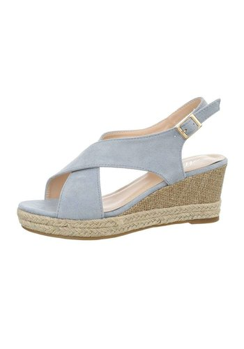 Neckermann Dames sleehak sandalen - blauw