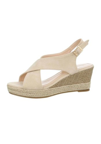 Neckermann Dames sleehak sandalen - beige
