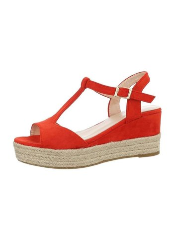 Neckermann Dames sleehak sandalen - rood