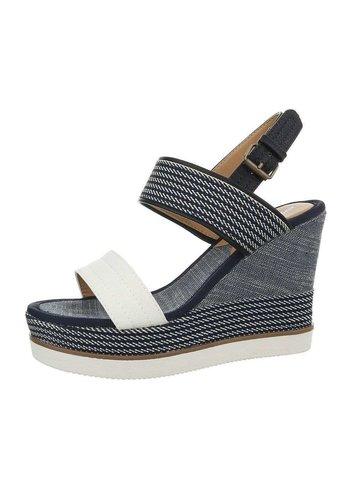 Neckermann Dames sleehak sandalen - wit bandje en zool