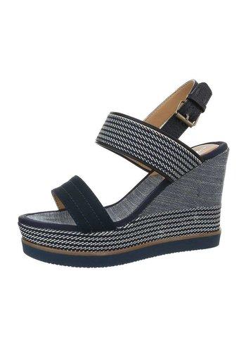 Neckermann Dames sleehak sandalen - marine bandje en zool
