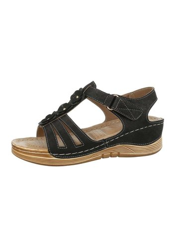 Neckermann Dames sleehak sandalen - zwart