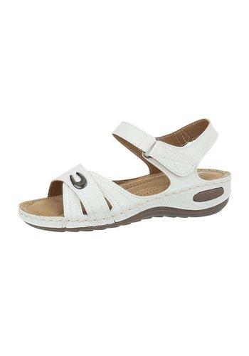 Neckermann Dames sleehak sandalen - wit