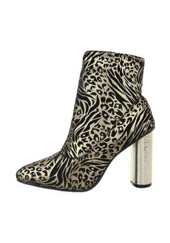 Neckermann Dames enkellaarzen met hoge hakken - luipaard