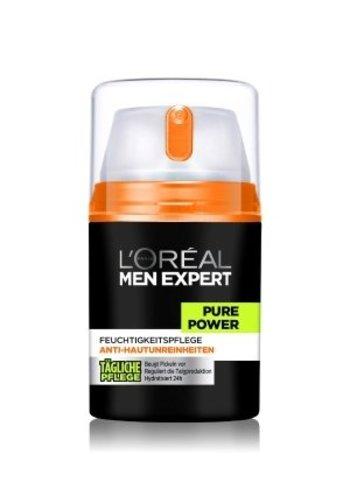 L'OREAL Gel nettoyant pour homme - Pure power - 50ml