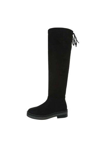 Neckermann dames hoge laarzen zwart 7280