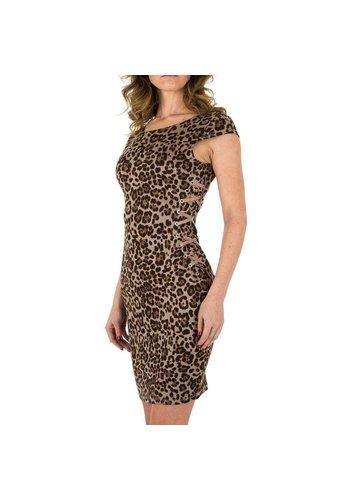 NOEMI KENT dames jurk leopard KL-WJ-7056