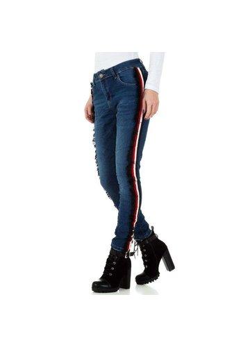 Mozzaar dames jeans blauw KL-J-C9967