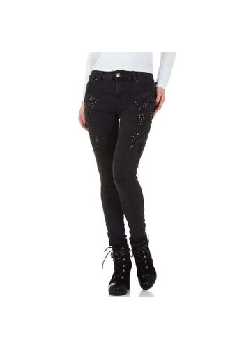 Mozzaar dames jeans  donkergrijs KL-J-C9719