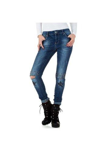 Mozzaar dames jeans blauw  KL-J-C9663