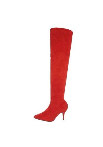 Neckermann bottes pour dames rouge A372-1