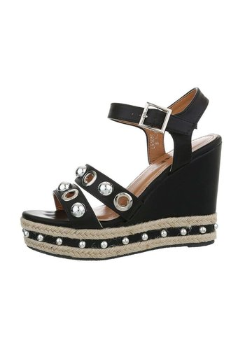 Neckermann dames wedges zwart L51050