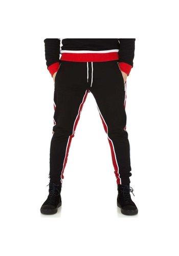 Neckermann heren jogging broek zwart/rood KL-H-2532