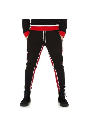 Neckermann pantalon de jogging homme noir / rouge KL-H-2532