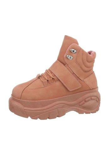 Neckermann dames hoge sneakers roze  EL368-SP