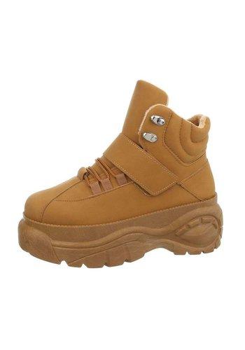 Neckermann dames hoge sneakers camel EL368-SP