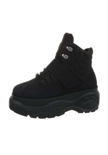 Neckermann dames hoge sneakers zwart EL368-SP