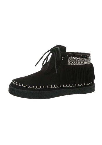 Neckermann dames hoog sneakers zwart G-30-1