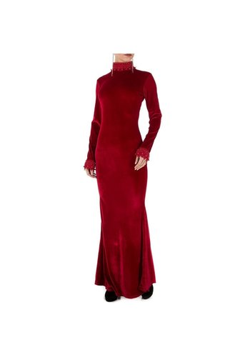 Neckermann Damen langes Kleid weinrot