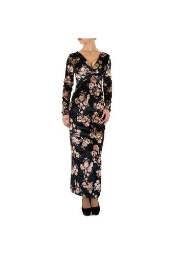 Neckermann dames lange jurk zwart KL-MU-1039