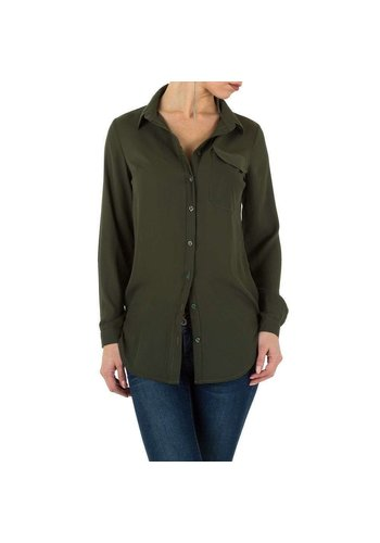 Neckermann dames blouse khaki KL-L0020-02
