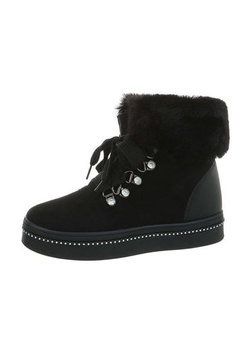 Neckermann dames hoge sneakers zwart KB-089