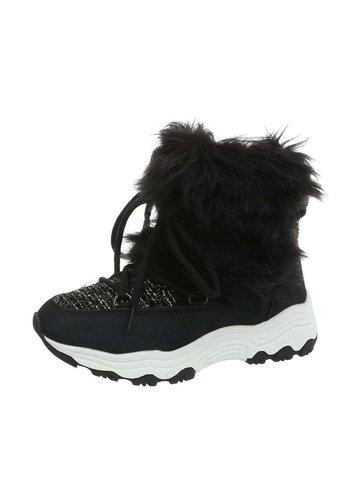 Neckermann dames hoge sneakers zwart BS153