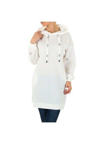 SHK PARIS dames lange hoodie wit KL-M207-1