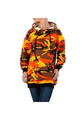 Neckermann dames hoodie sweater oranje camo KL-M-199