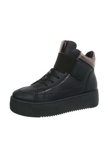 Neckermann dames sneakers hoog zwart I-10